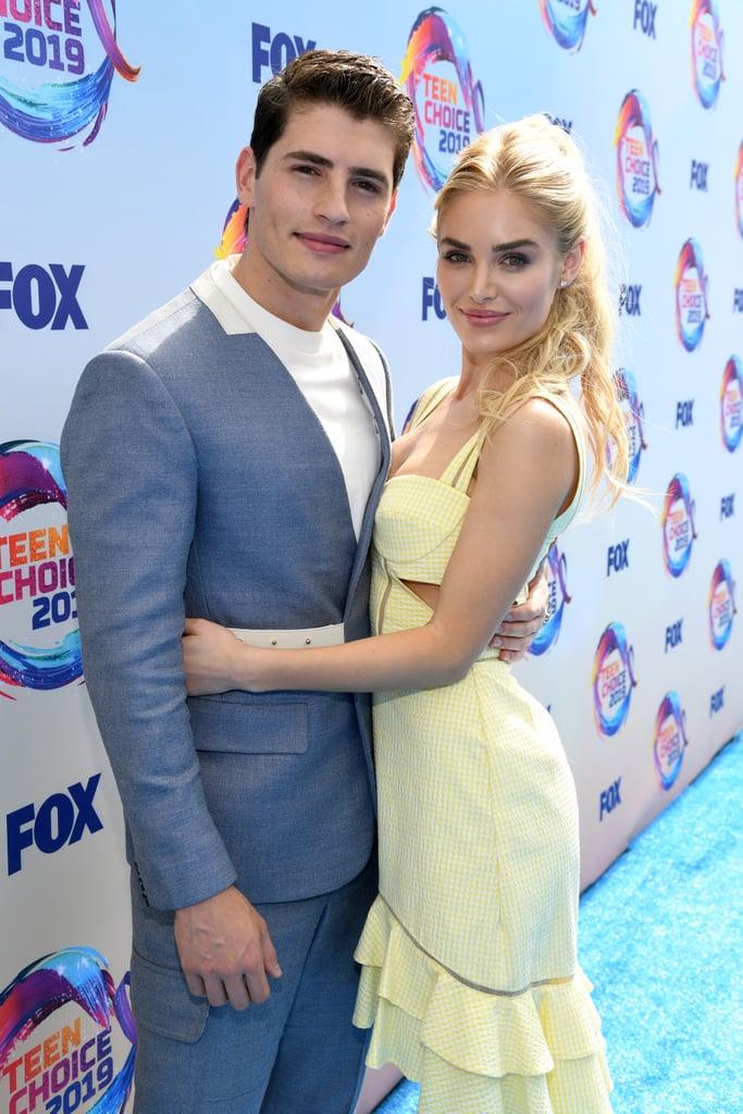 Gregg Sulkin and Michelle Randolph at the Teen Choice Awards 2019