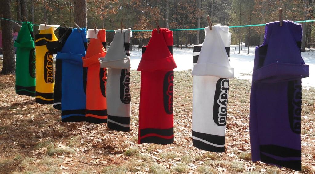 Kids Custom Handmade Crayon Costumes