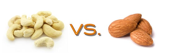 Nutritional Comparison of Almonds and Cashews