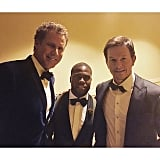 """""""More Backstage Chronicles from the Globes....Me X Will Ferrel X Mark Wahlberg #GoldenGlobes"""""""