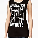 """Quidditch Tryouts"" Sleeveless Tee ($5, originally $24)"