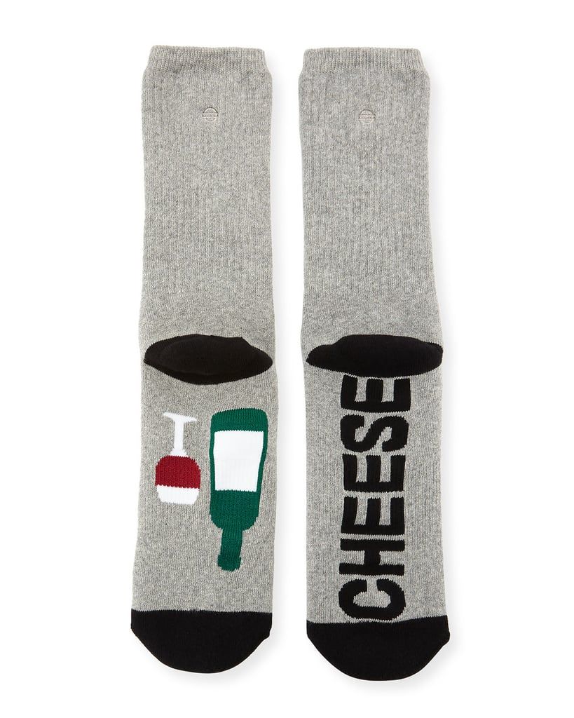 SockArt Wine and Cheese Socks ($20)