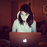 Alexa Chung had a late-night writing session. Source: Instagram user chungalexa
