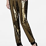 BCBG Max Azria's Zhara Sequined Pants ($139, originally $348) come in a dark gold finish, making them ideal for date night and cocktails after.