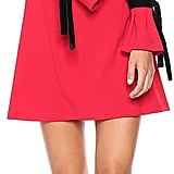 Donna Morgan Easy Ruffle Sleeve Tie Dress