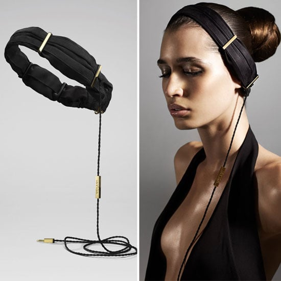 Made out of silk and chiffon, these luxe headphones from Molami are made to look like a sleek headband. How cool is that?  Molami Silk Headpiece Headphone ($200)
