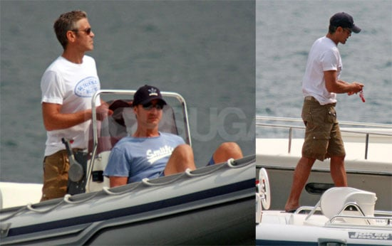 Photos of Single George Clooney on Lake Como