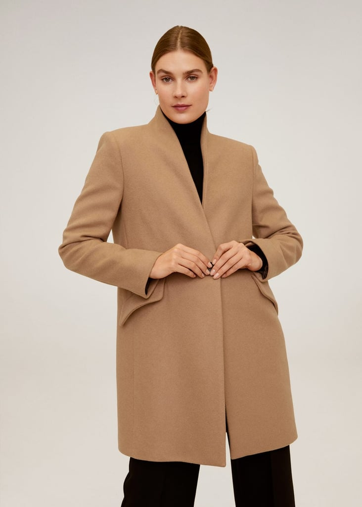 MNG Straight-Cut Wool Coat