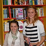 Maisie Williams (Arya Stark) and Sophie Turner (Sansa Stark) — you cannot. Source: Blogspot user thewertzone