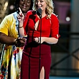 Amy Poehler accepted an award at the Comedy Awards.