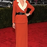 Kirsten Dunst Suits Up in Rodarte For a Retro Moment at the Met