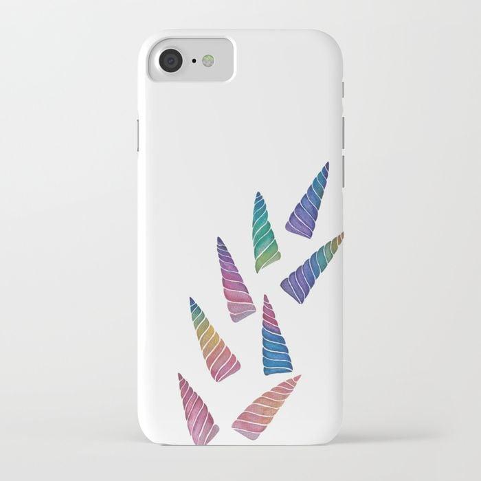 Rainbow Unicorn Horns iPhone Case