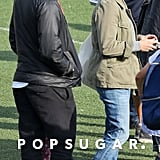Reese Witherspoon and Ryan Phillippe got together to watch their daughter Ava's track meet in LA.