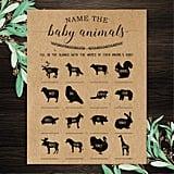Name the Baby Animals Printable Game