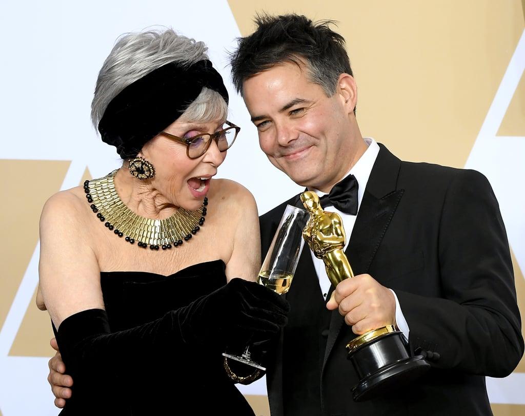 Pictured: Rita Moreno and Sebastián Lelio