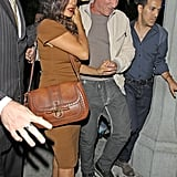 Francois-Henri Pinault kept wife Salma Hayek close by his side after leaving a club in LA.