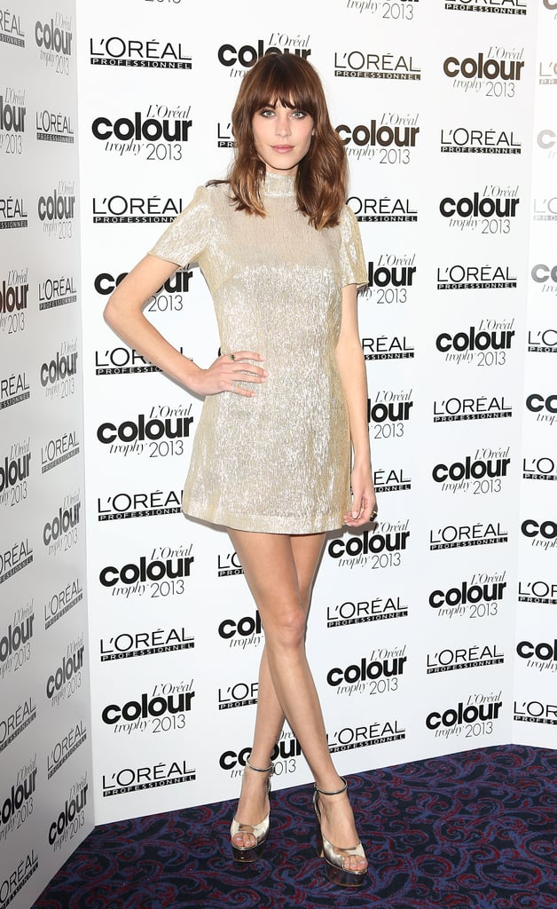 Alexa Chung at the 2013 L'Oréal Color Trophy Awards in London.