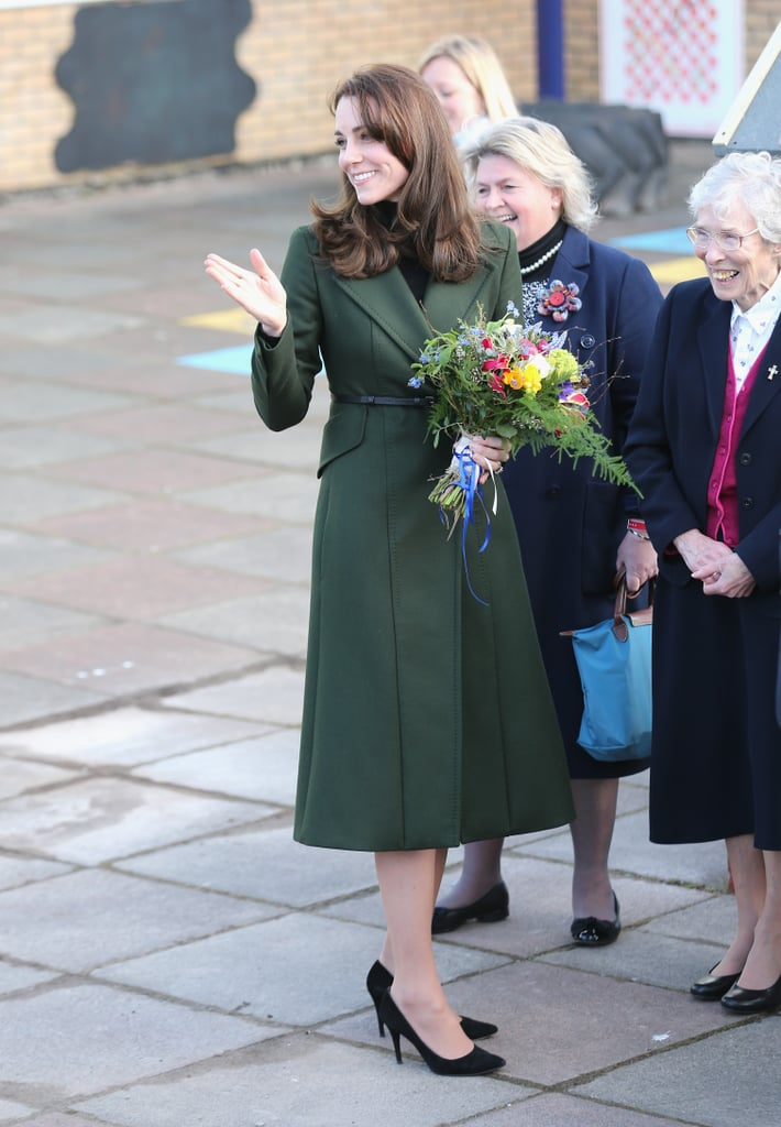 Kate Wearing Her Sportmax Coat to Visit Edinburgh