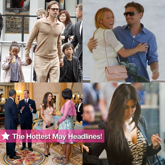 Angelina Jolie, Brad Pitt, Kim Kardashian, January Jones, Michelle Obama, Kate Middleton, and More in May's Hottest Headlines