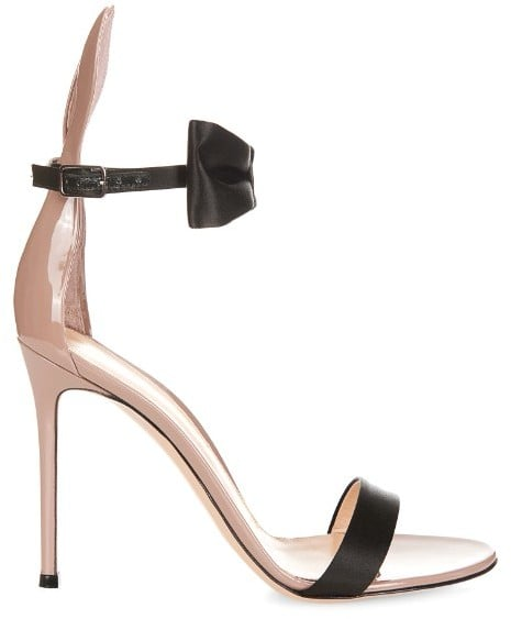 ea393bc6350 Gianvito Rossi Bunny Bow-tie Patent-leather and Satin Sandals | Best ...