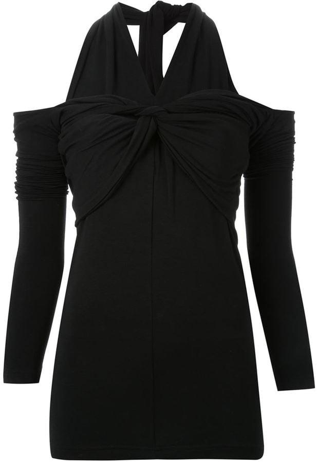 G.V.G.V. Knotted Cold Shoulder Top ($297)