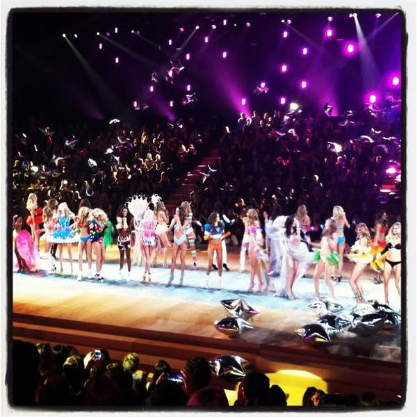 The finale of the first show. The crew will do it all again in a few hours. Twitter user: @StyleList