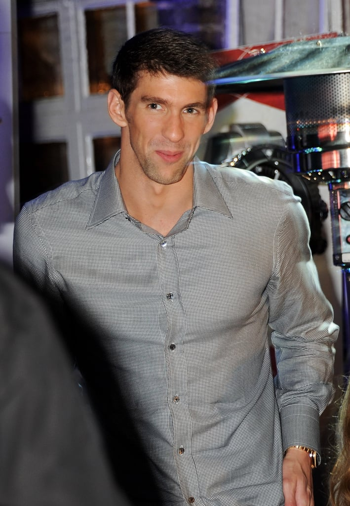 Michael Phelps looked relaxed at the Spotlight on Swimming party in London.