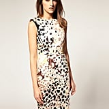 A cool, abstract animal gets tempered with a classic silhouette.   Warehouse Animal Printed Dress ($104)
