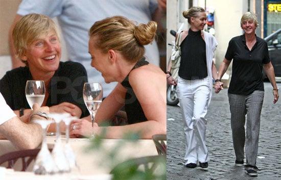 Photos of Ellen DeGeneres and Portia de Rossi in Rome