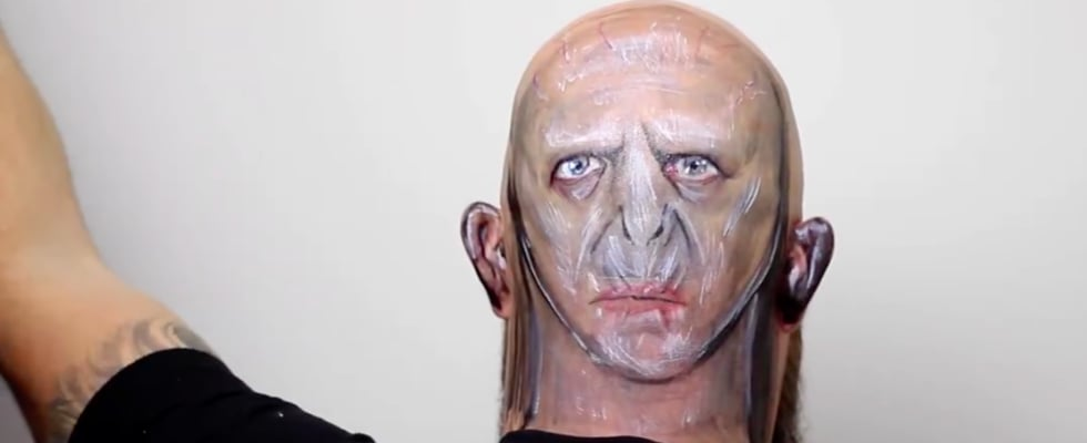 Lord Voldemort Body Art Transformation
