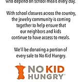 100+ Jewelry Brands and Counting Are Donating to No Kid Hungry