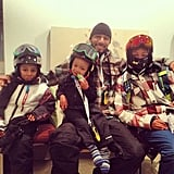 Swizz Beatz took his sons — including 2-year-old Egypt — on the slopes earlier this year.  Source: Instagram user therealswizzz
