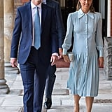 Attending the Royal Christening in a Baby Blue Dress