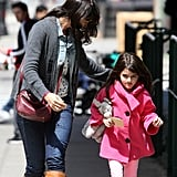Katie Holmes and Suri Cruise had a girls' day in NYC and got their nails done together.