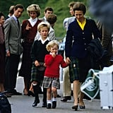 Princess Anne With her Kids and Brother Prince Charles and His Then-Wife Princess Diana in 1985 in Scotland