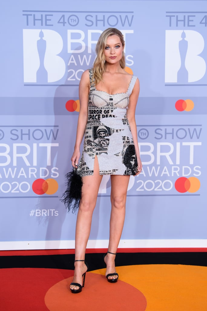 Laura Whitmore Carries a L'alingi Bag on the BRIT Awards Red Carpet