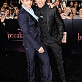Kellan Lutz and Peter Facinelli hammed it up.