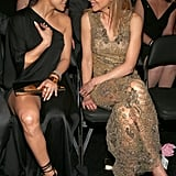 Jennifer Lopez and Nicole Kidman chatted in their seats.