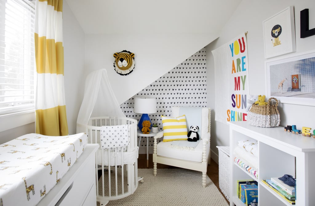 """""""I am all about tons of storage and having an 'everything has its place' mantra. Ultimately, my house needs to be clean and orderly so that when I am home I can focus on Leo and my family and just relax,"""" busy working-mom Jillian says of her stay-sane policy."""