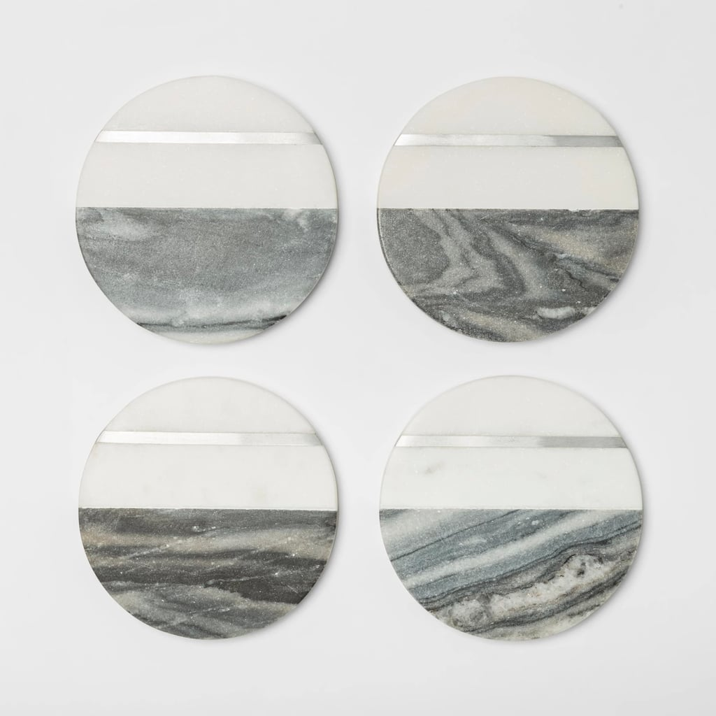Marble Coasters in Gray / White