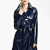 How amazing would this patent (and waterproof) coat look casually draped over the shoulders?  Via Spiga Patent Rain Coat Trench ($168)