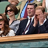 The Duchess of Cambridge and Prince William got emotional while watching Wimbledon in London on Wednesday.