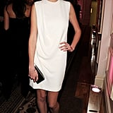 Lara Stone took home Model of the Year in a white shift dress.