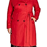 City Chic Mystique Trench Coat (Plus Size)