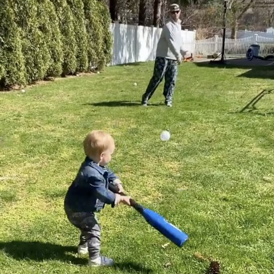 Toddler Boy Hitting Baseballs in the Backyard | Videos