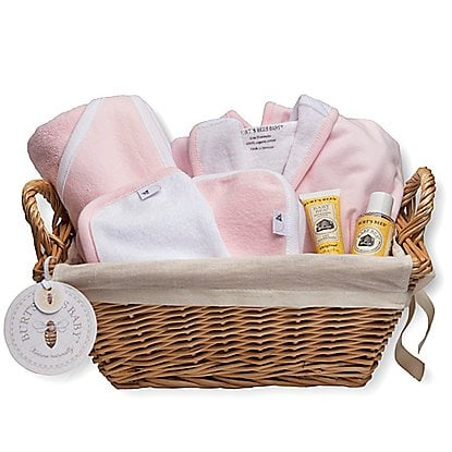 For a Baby Girl: Burt's Bees Baby Bath Time Basket
