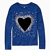 Rockets of Awesome Sequin & Velvet Heart Tee
