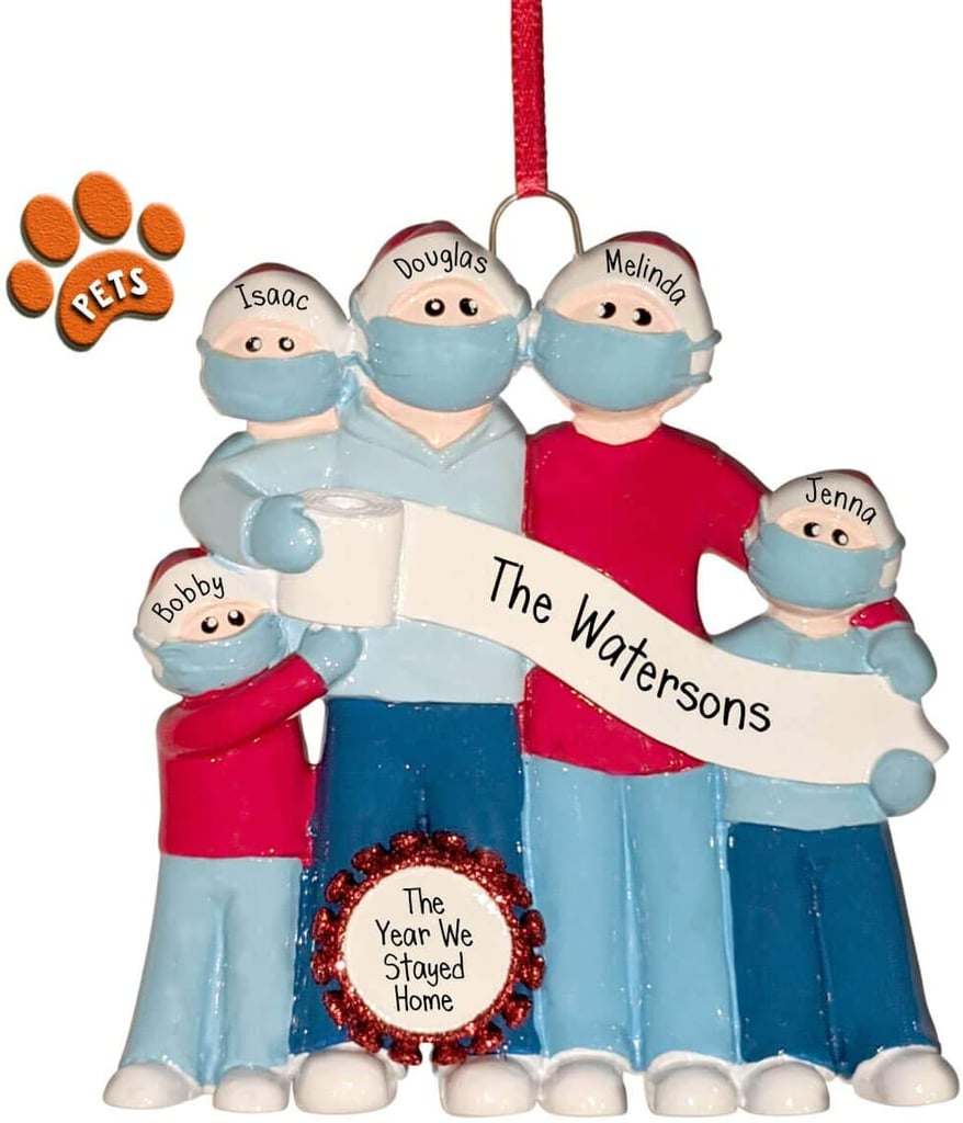 Family with a Toilet Paper Banner Christmas Ornament