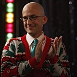 Never one to shy away from the opportunity to dress up, Dean Pelton looks festive in a Christmas sweater.   Photo courtesy of NBC