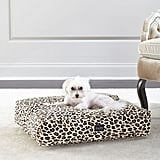 Harry Barker Small Leopard Cotton Canvas Dog Bed